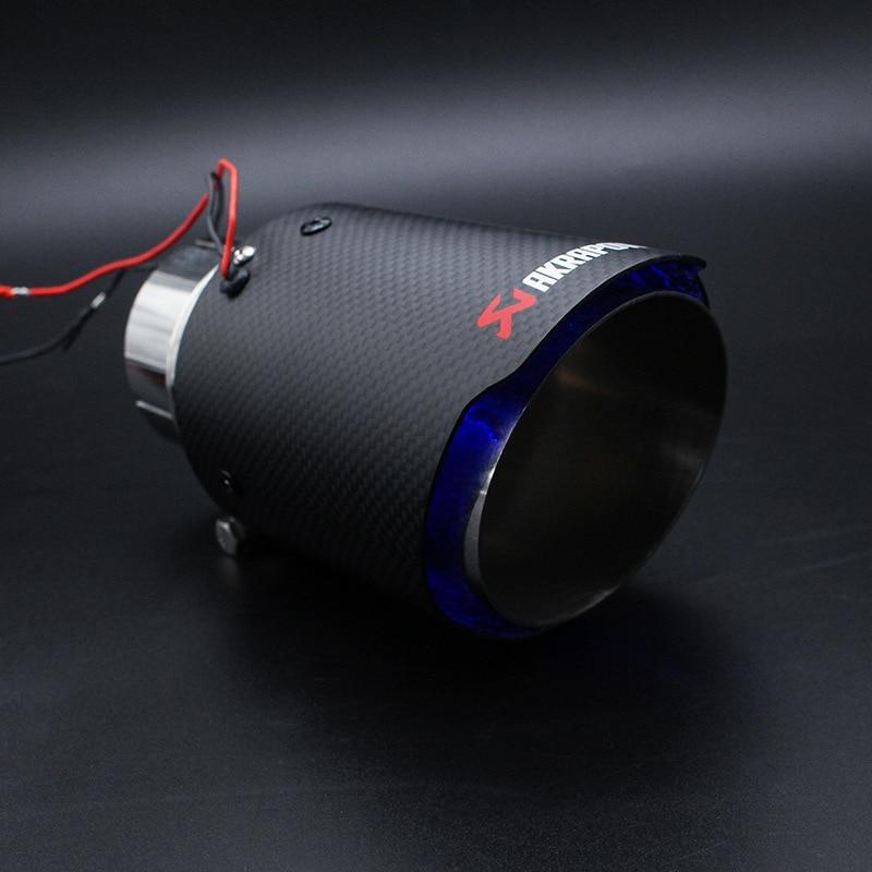 ID 63 MM OD 89 MM Modifié cracheur de Feu Effet Haute-température lumière led Bout de Silencieux