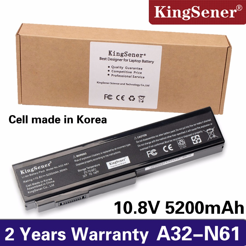 KingSener A32-N61 Battery for Asus N61 N61J N61D N61V N61VG N61JA N61JV M50s N43S N43JF N43JQ N53 N53S N53SV A32-M50 A32-X64 free shipping new lcd cable for asus n53s n53j n53d n53sv n53 lcd video cable