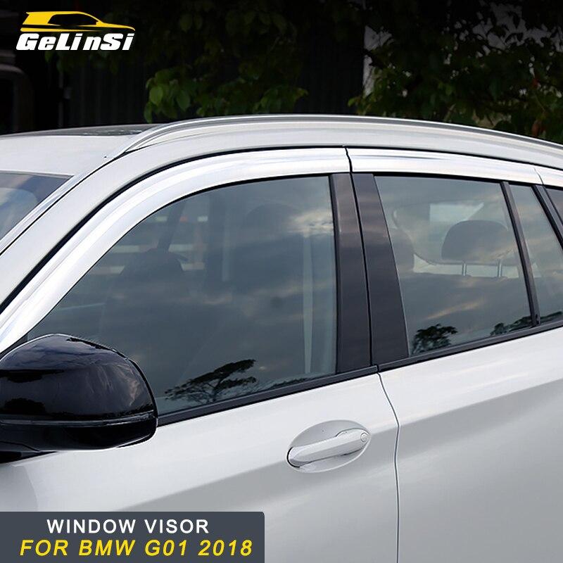Gelinsi pour 2018 BMW X3 G01 voiture fenêtre pare-pluie couverture garniture accessoires