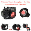 40m Underwater Camera Housing Case for Fuji X100S Camera,Waterproof Camera Bags Case + Fisheye lens + Red Filter 67mm Image