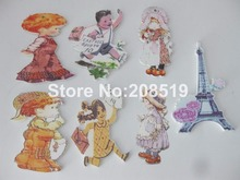 WBNAWE 2 Doll Girl Susan wood Buttons 30pcs Handmade craft decoration Children Home party DIY accessories