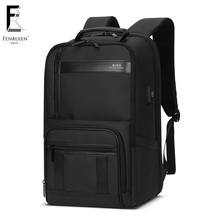 FRN Men Travel Backpack Large Capacity Teenager Male Mochila Back Anti-thief Bag USB Charging 15.6 Laptop Waterproof