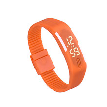 New Fashion Mens Womens Clock Rubber LED Watch Date Sports Bracelet Lady Girls Digital Wrist WatchF3