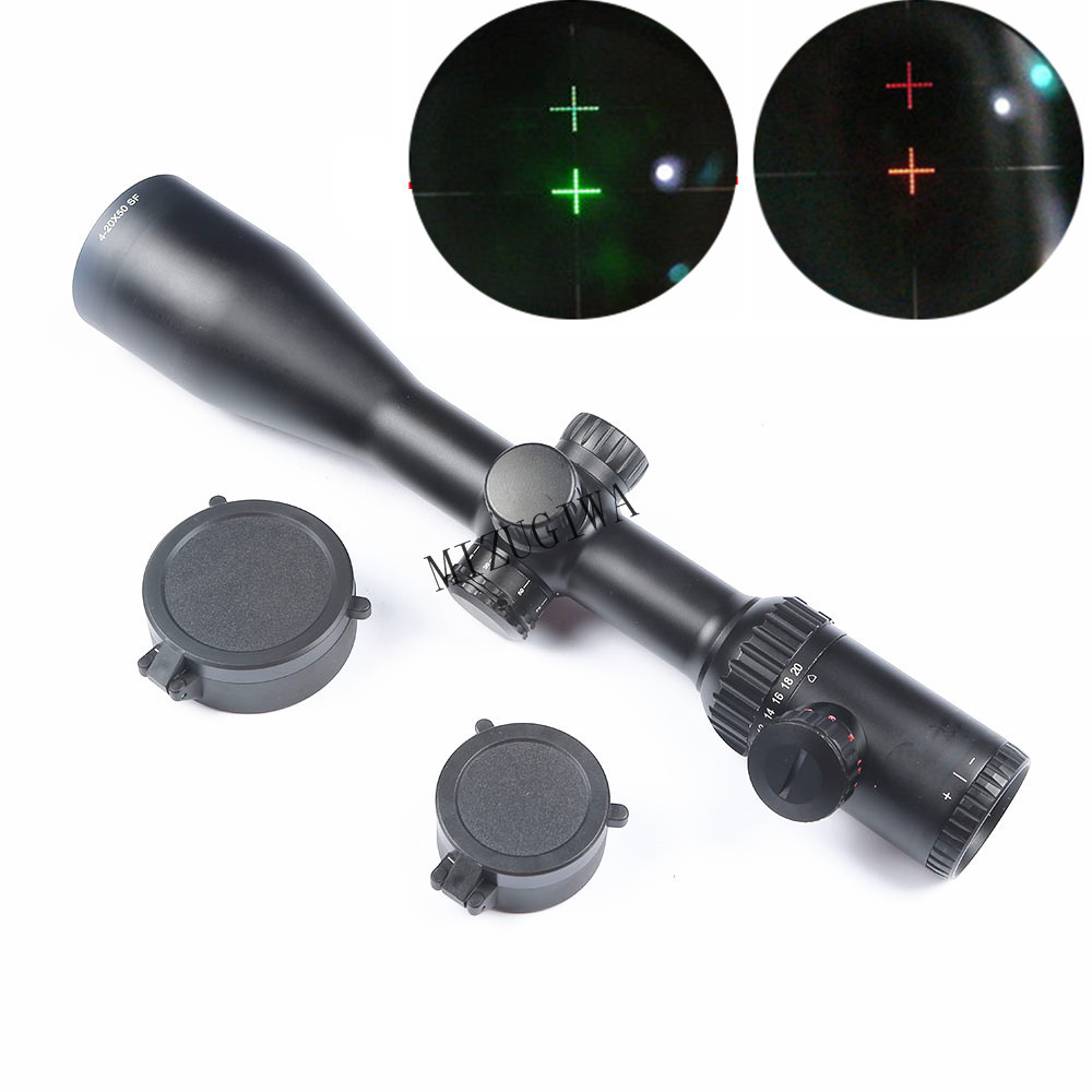 Tactical 4-20X50 SF SFP Optics Riflescope Side Parallax Rifle Scope Hunting Scopes for Sniper Rifle Hunting Caza red green blue illuminated tactical riflescope 5 20x50 aomc hunting scopes cross reticle sniper rifle scope air rifle optics