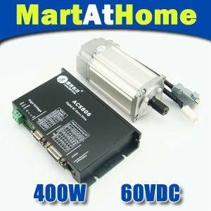 ЧПУ Leadshine бесщеточными drive kit (сервопривод acs806 + 400 Вт 60 В AC Servo Двигатель) # sm413 @ SD