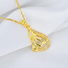NEW Arabic Women Islamic Muslim God Allah Gold-color Pendant Necklace Jewelry Ramadan Gift