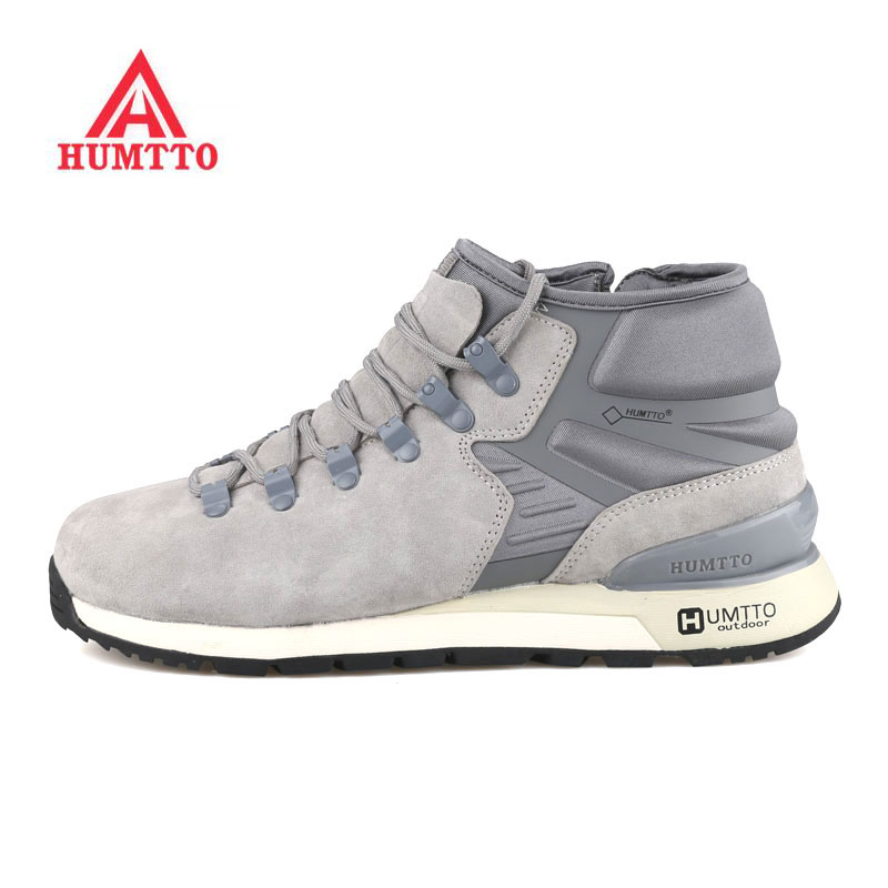 HUMTTO Men's Outdoor Winter Hiking Trekking Boots Shoes Sneakers For Men Sports Winter Climbing Mountain Boots Shoes Sneaker Man humtto women s leather outdoor hiking trekking sneakers shoes for women purple sports climbing mountain shoes woman sneaker