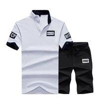2018 Men S Casual Tshirt Brand Fashion Print Letter Mens Summer Track Suits Homme Short Set
