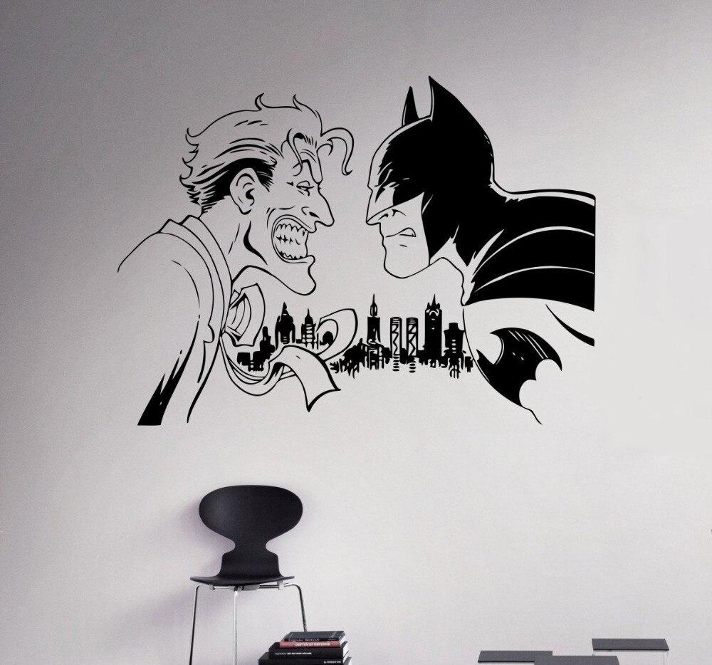 Aliexpresscom Buy New Arrival Batman Vs Joker Wall Decal Comics - Superhero vinyl wall decals