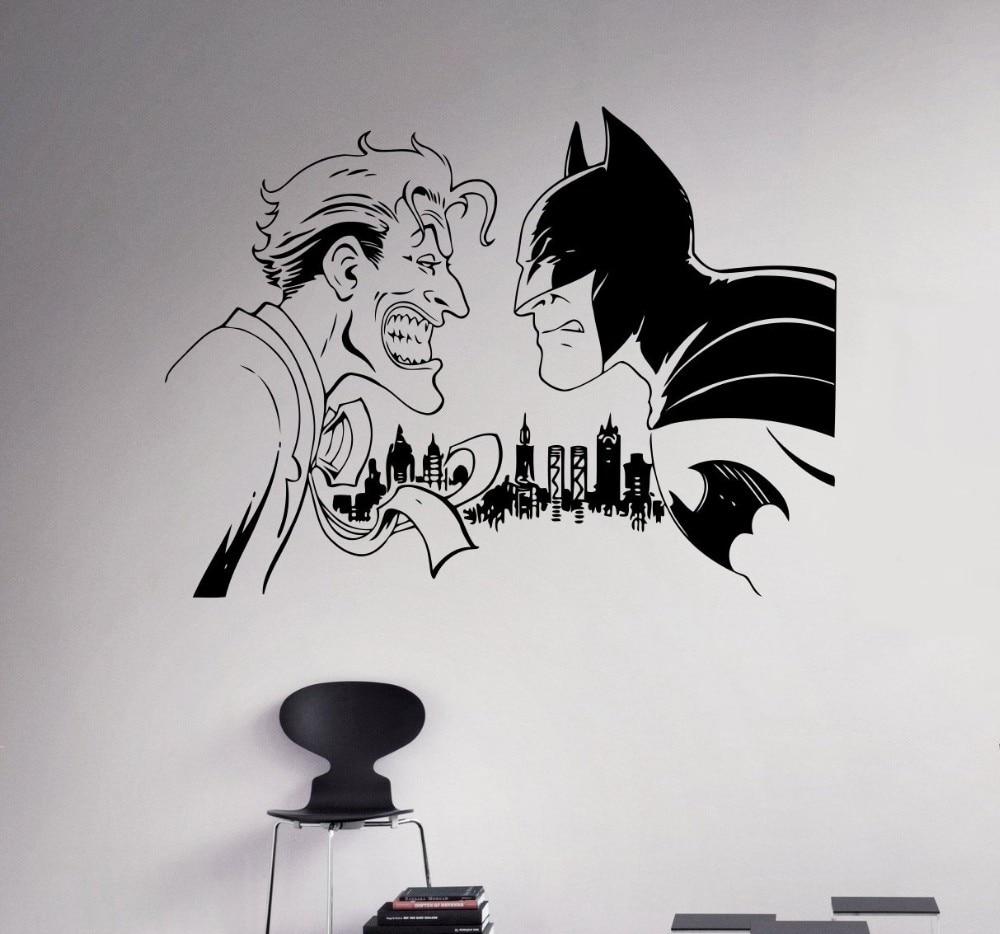 Aliexpresscom Buy New Arrival Batman Vs Joker Wall Decal Comics - Lego wall decals vinylaliexpresscombuy free shipping lego evolution decal wall