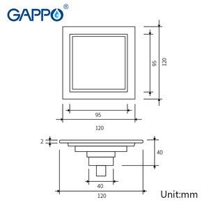Image 2 - GAPPO desagües para el suelo del baño, tapón de baño de 12x12cm, cubiertas para el orificio del fregadero, cubierta de drenaje de ducha, cubierta de drenaje de suelo, ducha de baño