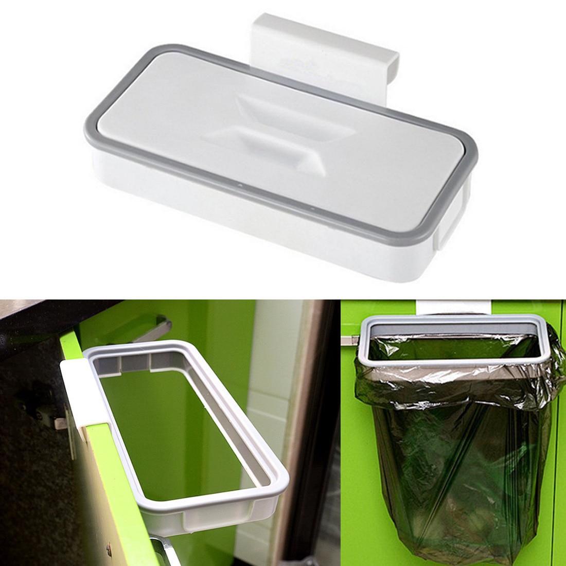 Garbage Trash Bag Holder Kitchen Tool Can Rack Plastic Hanging Holder Household