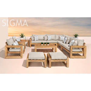 Large outdoor sofas patio sectional rattan wicker garden lounge furniture sofa set