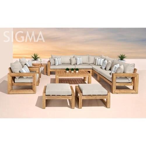 large outdoor sofas patio sectional rattan wicker garden lounge furniture sofa set