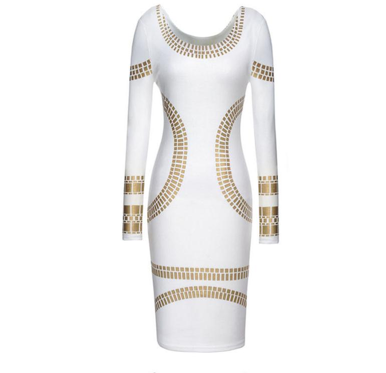 Hot Sequins White Dress Women fall winter high elastic knitted dress Large size XS-XXL hot sale halter beading sequins short homecoming dress