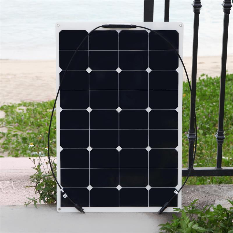 Solarparts 1PCS 75W flexible solar panel 12V solar panel solar cell yacht boat RV solar module for car/RV/boat battery charger 300w solar system from china suit for car ship boat with six pcs of module 50w and mppt solar conroller