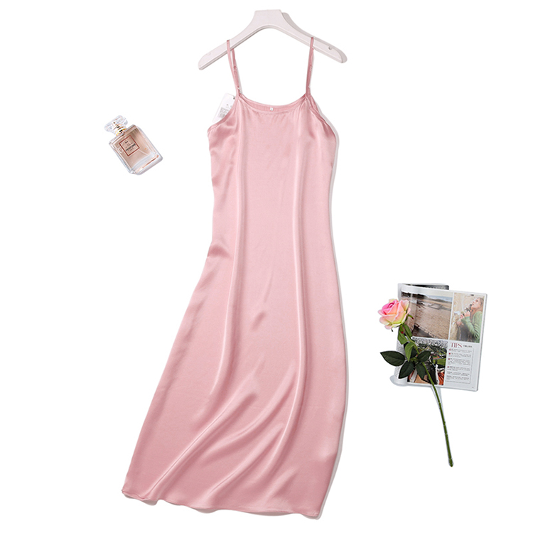 Silk 100 Real Pure Mulberry satin sexy slips long women summer party maxi dress dresses ladies