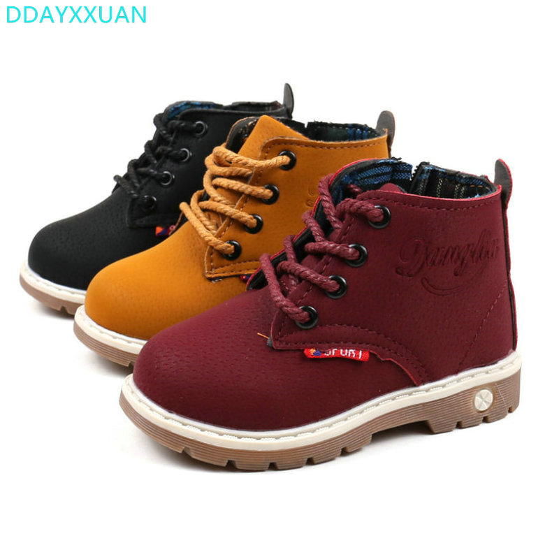 2017-New-Fashion-children-Shoes-boys-girls-snow-boot-shoes-kids-spring-autumn-high-quality-baby-martin-boot-child-ankle-boot-2