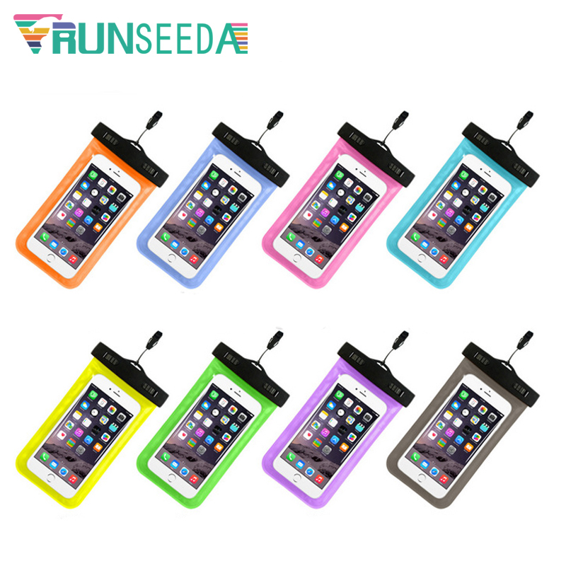 info for d9f9c b8ae5 US $2.02 30% OFF|Runseeda Swimming Bag Sealed Smartphone Waterproof Pack  Universal Mobile Phone Neck Pouch For Beach Diving Surfing Storage Cases-in  ...