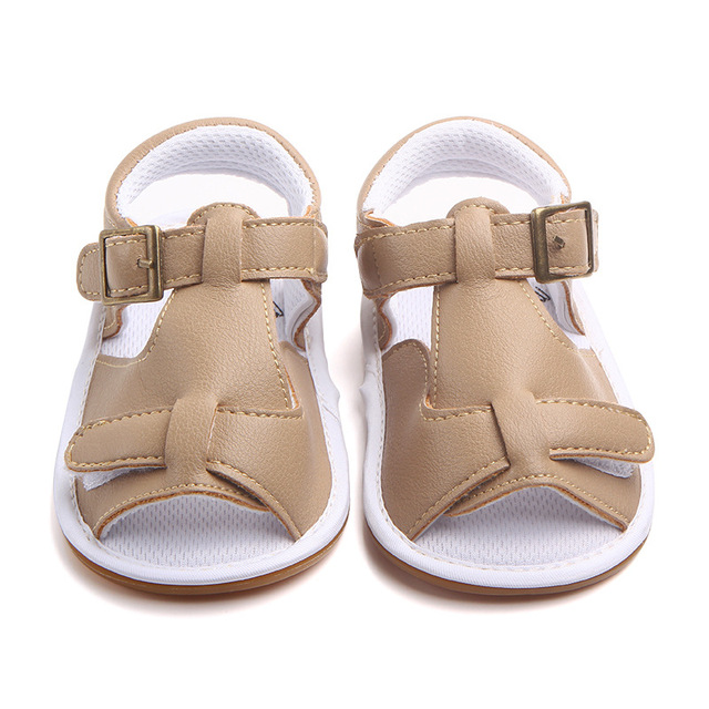 0-18M pu upper baby boy sandals anti slip flat with newborn sandals baby boy summer shoes soft sole F17