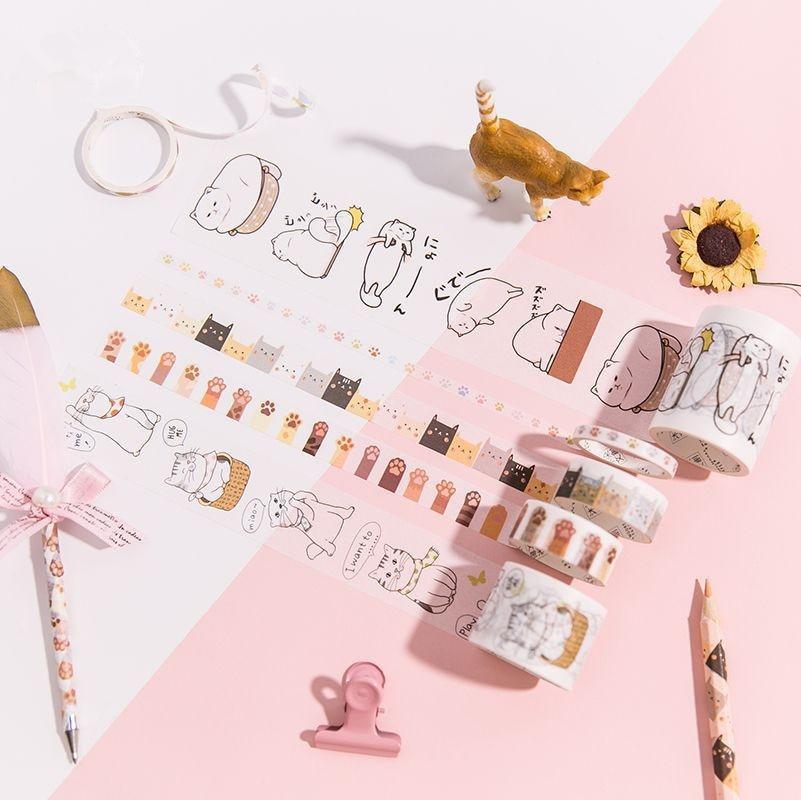 """""""werden Meine Katze"""" 6 Rollen Pack Nette Masking Tape Washi Tapes Schöne Scrapbooking Bänder Handwerk Decor Geschenk Wrap Bänder"""