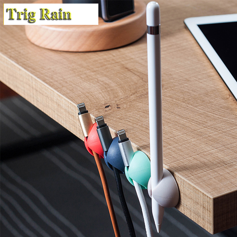 Round Cable Holder Protector Management Device Organizer Finishing Desktop Plug Silicone Wire Retention Clips Power Cord Round Cable Holder Protector Management Device Organizer Finishing Desktop Plug Silicone Wire Retention Clips Power Cord Winder