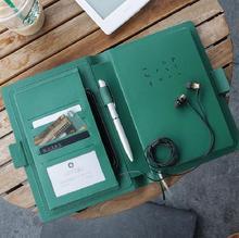 Высококачественный блокнот с магнитными кнопками для деловых встреч и путешествий, дневник, планер, запись 88 листов, подарок A6