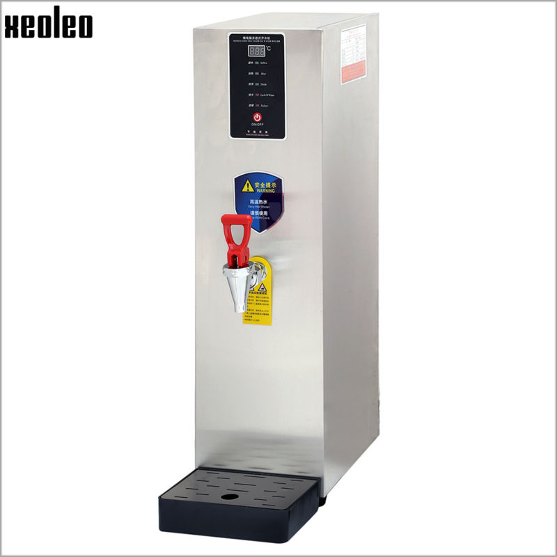 Xeoleo 8L Hot Water dispenser Commercial Hot Water machine 28L/H Stainless steel Water boiler for bubble tea shop 2500W купить недорого в Москве