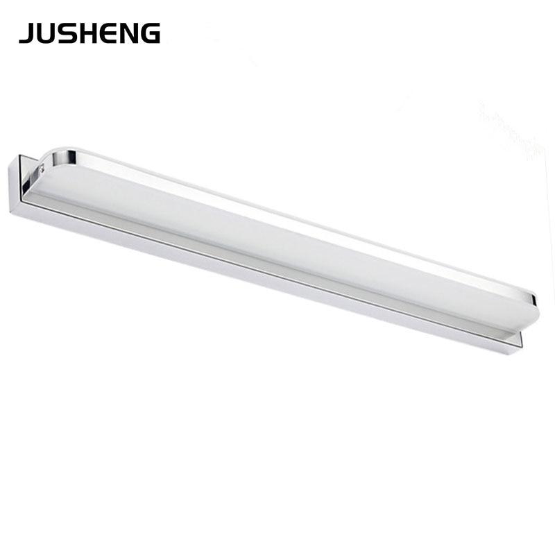 Indoor Lighting 100-240V AC Stainless Steel  72cm Long LED Bathroom Light Fixtures 16W Acrylic Mirror Lamp 5960R
