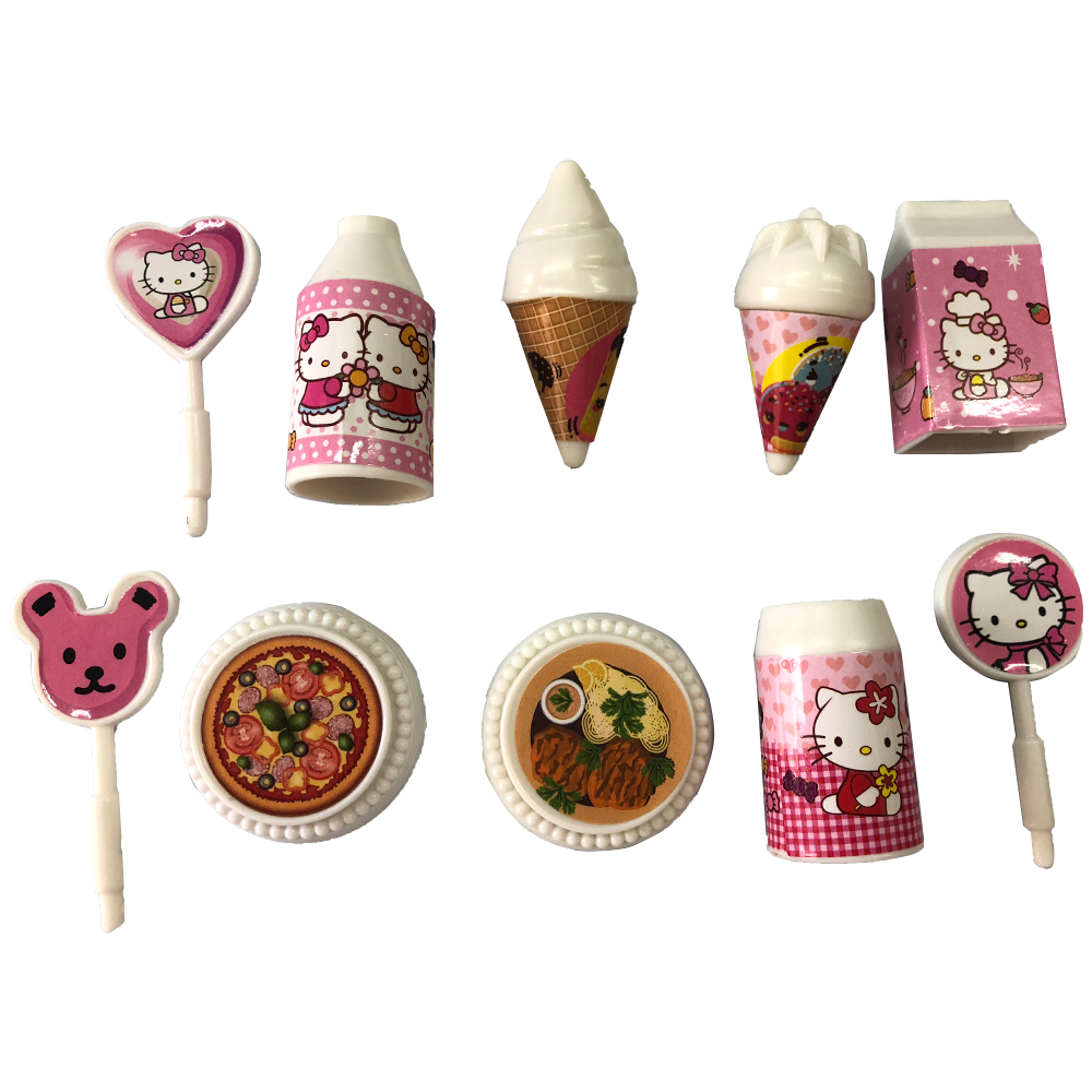 NK One Set  Doll Accessories Miniature Pretend Toy Mini Play Birthday Party Simulation Food For Barbie Doll Ice Cream Toys  7X