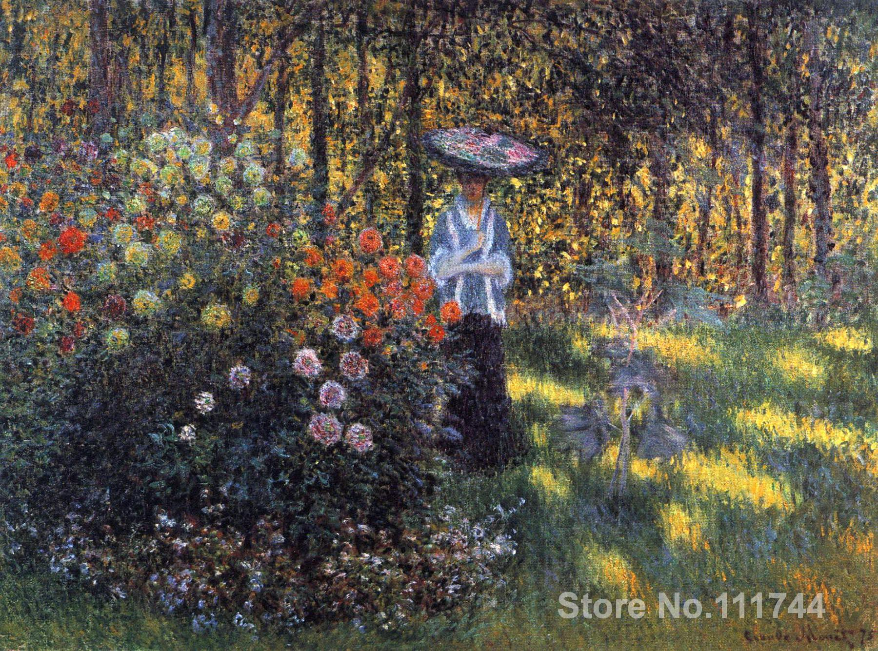 Us 105 6 20 Off Wall Art Woman With A Parasol In The Garden Argenteuil By Claude Monet Oil Paintings Handmade High Quality Painting