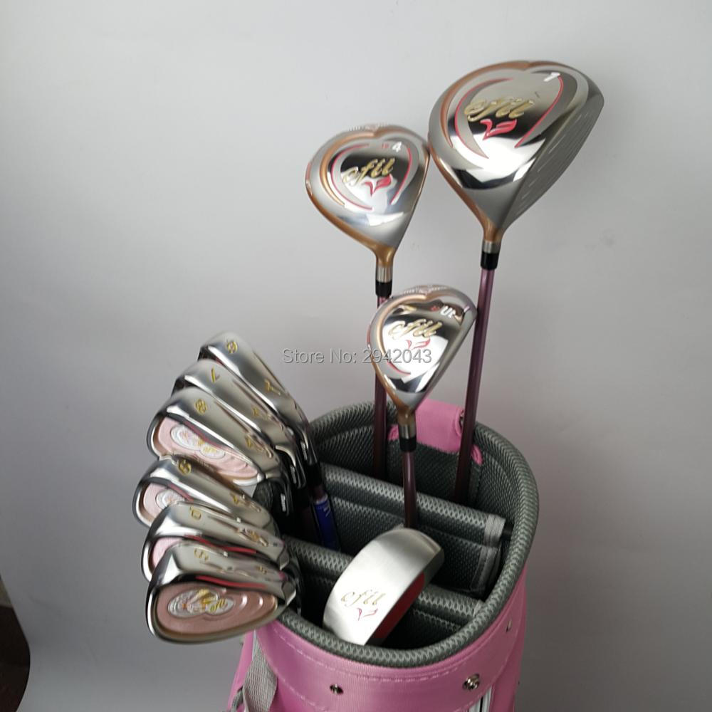 Womens Golf Set EFIL V Set Beginner Full Set Golf Club + Fairway Wood + Hardcore Graphite Golf Club No Bag женские чулки no womens stockings
