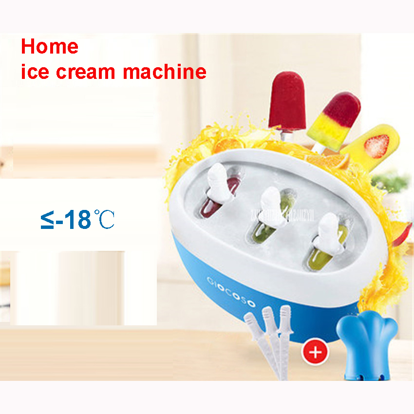 GY2103 Fruit home - made ice cream machine juice children 's ice rod machine ice cream machine 24 hours freezer time Blue/Pink free shiping fried ice cream machine 75 35cm big pan with 5 buckets fried ice machine r22 ice pan machine ice cream machine