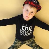 Toddler Baby Boys Cotton Sweatshirt Long Sleeve Winter Fall Pullover Tops Hoodies & Sweatshirts
