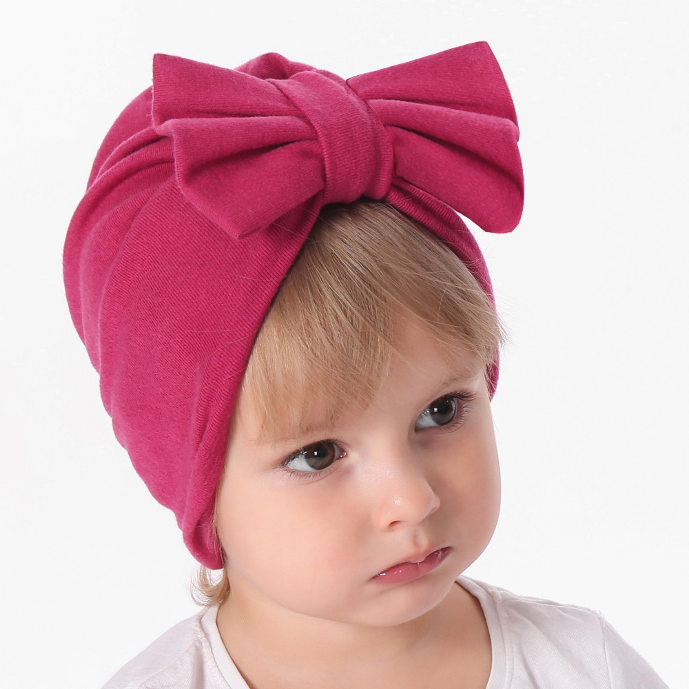Mother & Kids Baby Girl Sequins Design Bowknot Elastic Hats Turban Cap Cute Soft Infant Hair Accessories Indian Style Boys' Baby Clothing