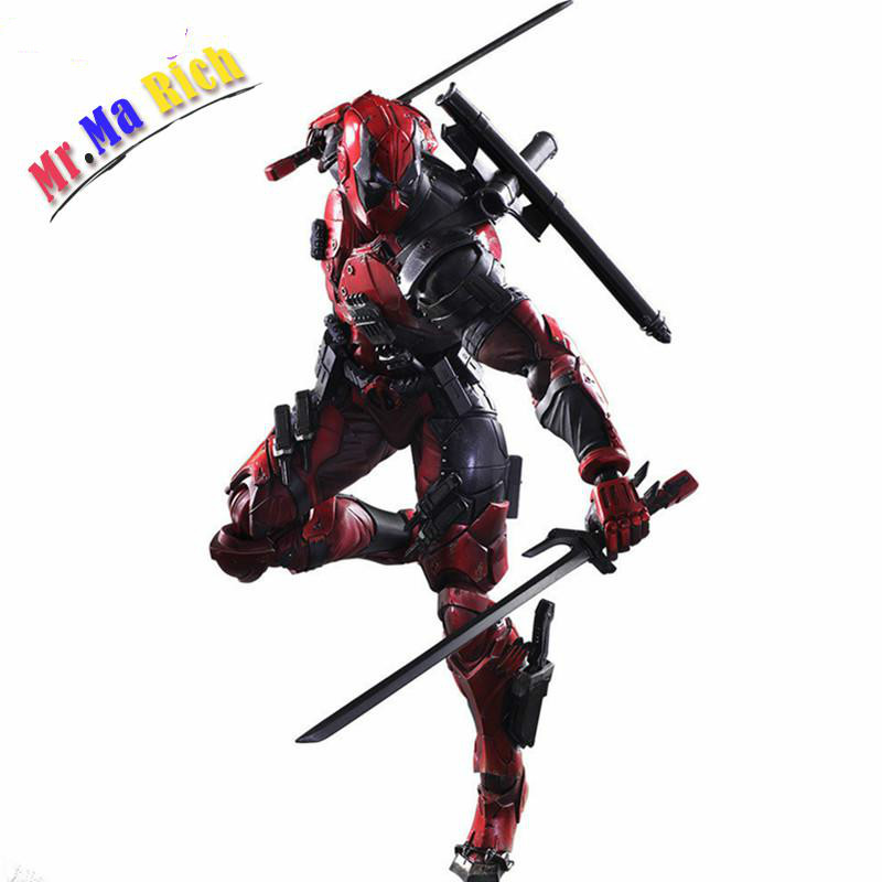 все цены на Deadpool Figure Play Arts Kai Wolverine X Men X-men Play Arts Kai Deadpool Wade Winston Wilson Pvc Action Figure 260mm Doll Toy онлайн