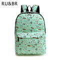RU&BR Cartoon Fashion Women Backpacks Printing Cute Backpack Rucksack Casual School Bags For Teenagers Travel Bags Canvas Bags