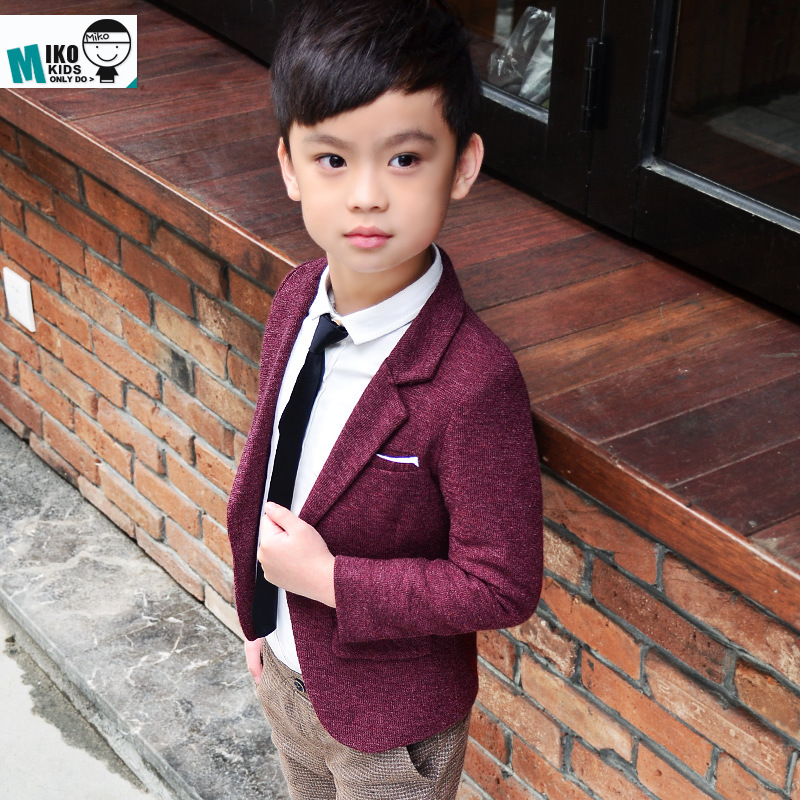 b78206fc6 Korean style kids clothes 2019 Hot Sale children's spring casual blazer boys  outerwear jackets wholesale long sleeve boy blazers-in Jackets & Coats from  ...