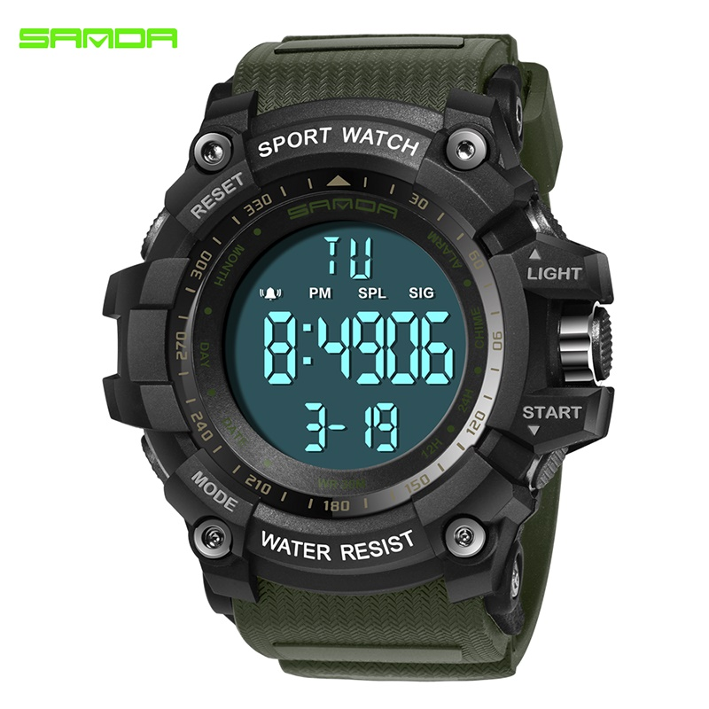 SANDA Fashion Casual S Shock Men's Watch Men's Luxury Brand Quartz Chronograph Sport Watch Male clock relogio masculino