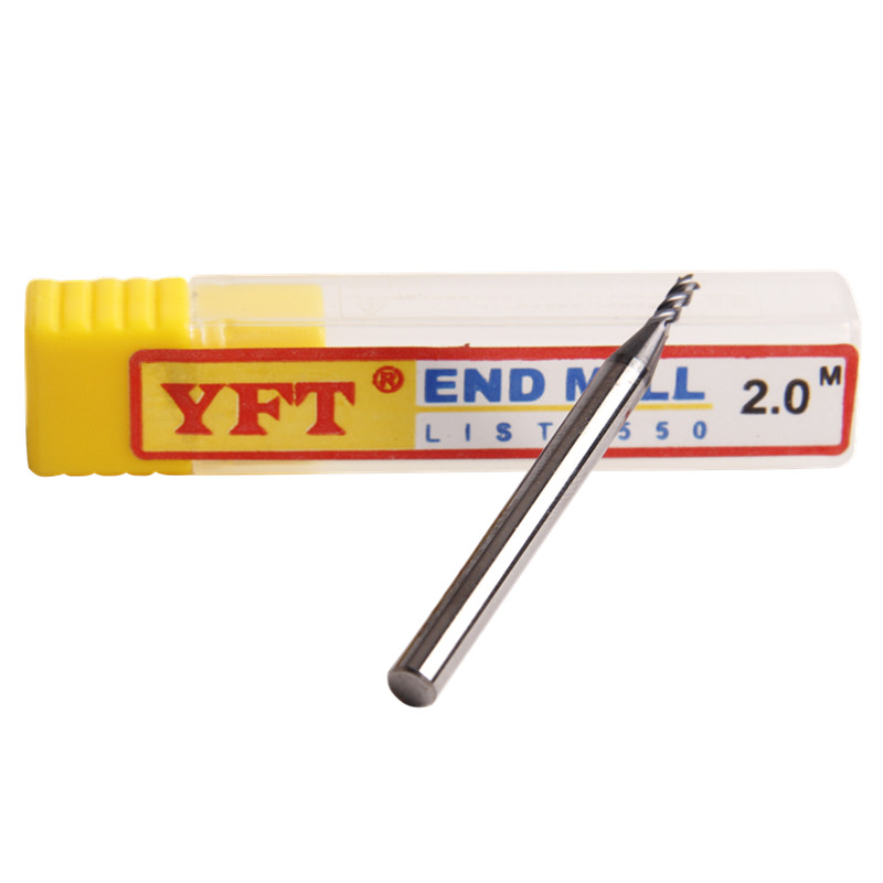 YFT 4-blade Carbide End Mill Diameter 2mm Router Bit Set End Mills Tungsten Steel Milling Cutter HRC 55 CNC Tools 16pcs 14 25mm carbide milling cutter router bit buddha ball woodworking tools wooden beads ball blade drills bit molding tool
