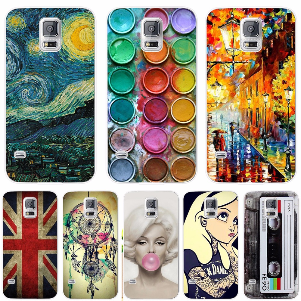 Soft Silicone <font><b>Case</b></font> For <font><b>Samsung</b></font> <font><b>Galaxy</b></font> <font><b>S5</b></font> <font><b>Case</b></font> Funda i9600 <font><b>G900F</b></font> Cover Pattern Cartoon For Coque <font><b>Samsung</b></font> <font><b>S5</b></font> Mini G800 Phone <font><b>Case</b></font> image