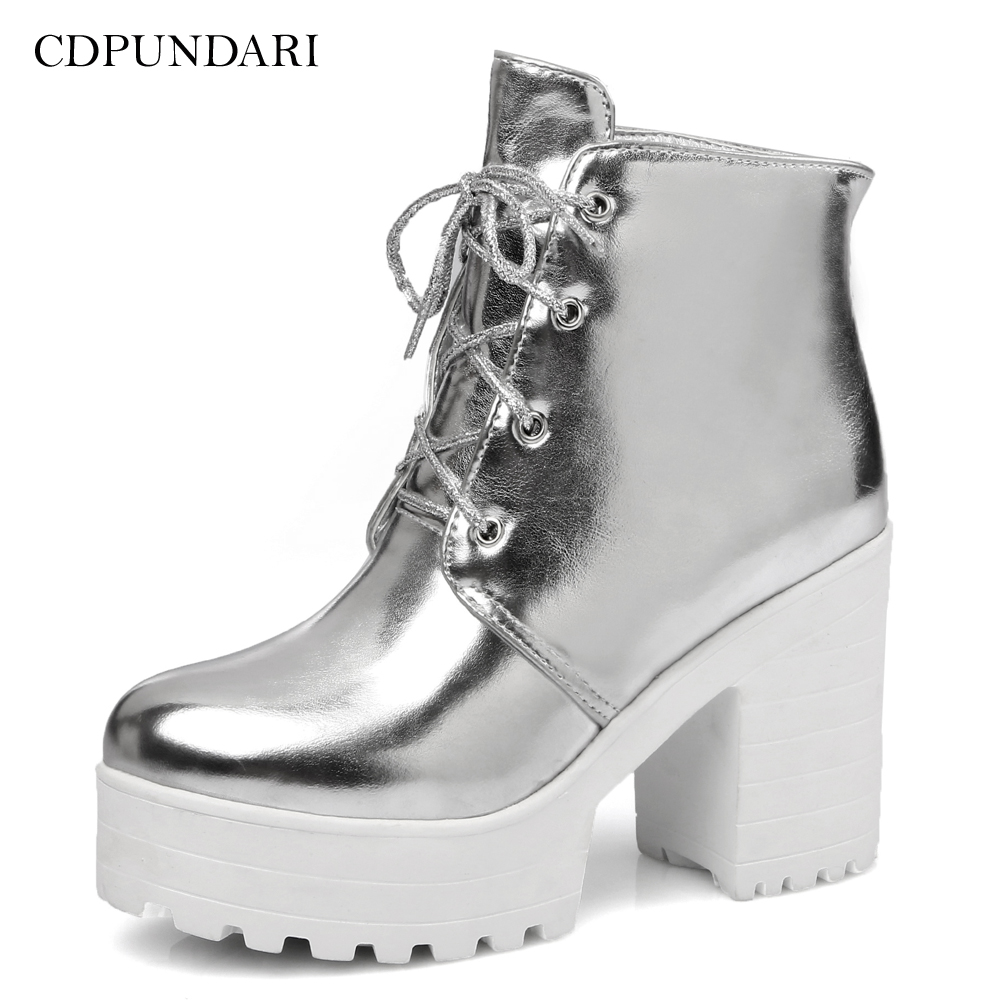 BEST Gold Silver High heel Ankle boots For Women