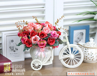 Float Artificial Silk Rose Flower Wedding Fake Colorful Tricycle Home Garden Decoration