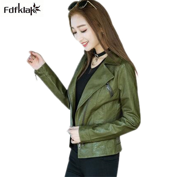 chaqueta cuero mujer New Plus Size Pu Faux   Leather   Jacket Women Slim Short Coat Female   Leather   Coats jaquetas feminino M-3XL