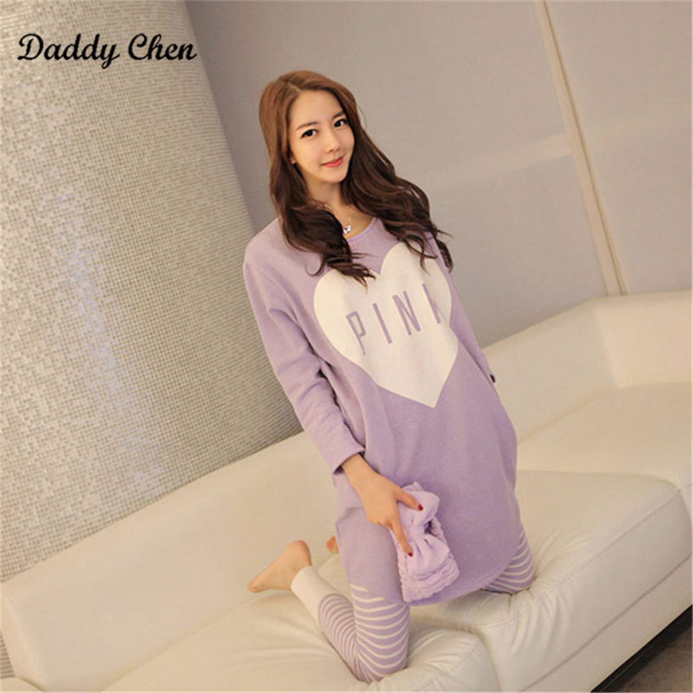 Fashion Autumn Warm Women   Pajamas     Set   Long Sleeve Sleep Wear Pants Modal Suit kawaii Animal Print Sleepwear
