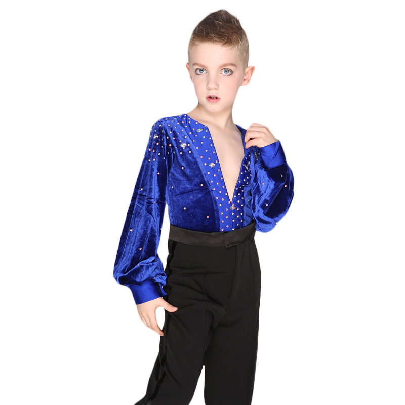 Otroški Ballroom Dance Tops Boys Latin Dance majica Leotard Stage & Dance Wear For Boys
