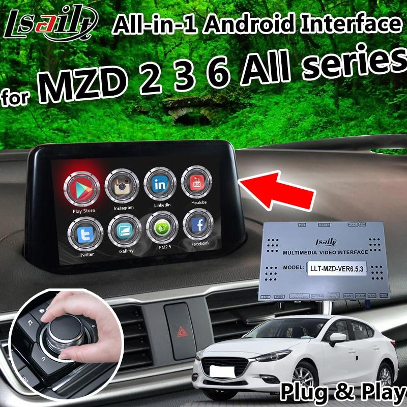 Все в 1 Plug & Play Android 6,0 8,0 7,1 gps навигационная коробка для Mazda 2 3 6 все серии с carplay, Яндекс, OEM Кнопка управления