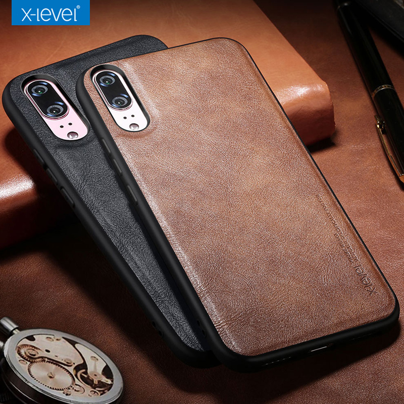 X-Level Case For Shell Back-Cover Protective Huawei P20 Luxury Leather Business P30 Soft-Edge