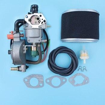 Auto Choke Dual Fuel Carburetor Conversion Kit For Honda GX390 13HP 188F 4.5KW-8KW Generator LPG/CNG/Gasoline Carb Air Filter