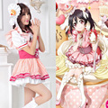 Women Girls Lovelive! Nico Yazawa Cosplay Fringed dress Lolita Maid dress Adult Love Live! MV Performance Costume dress FULL SET